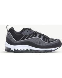 detailed look 07e3a 5ae30 Nike - Air Max 98 Suede And Mesh Trainers - Lyst