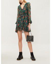 The Kooples - Poppy Field Print Silk-chiffon Dress - Lyst
