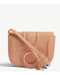 See By Chloé - Brown Buckle Style Hanna Leather Cross Body Bag - Lyst 19aecfa986dd8