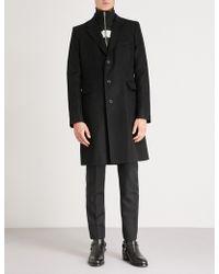 Alexander McQueen - Faux-turtleneck Wool-blend Coat - Lyst