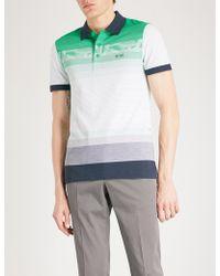 BOSS Green - Striped Cotton-piqué Polo Shirt - Lyst