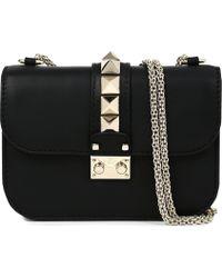Valentino | Rockstud Lock Leather Clutch | Lyst
