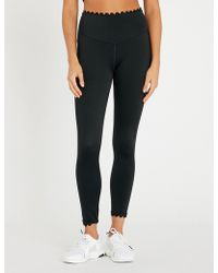 L'urv - I'm On Clouds Scalloped-detail Stretch-jersey leggings - Lyst