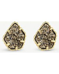 Kendra Scott - Tessa 14ct Gold-plated And Platinum Drusy Earing - Lyst