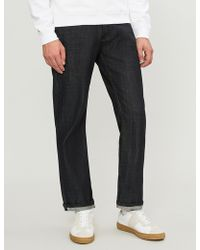 Sandro - Washed Regular-fit Straight-leg Jeans - Lyst