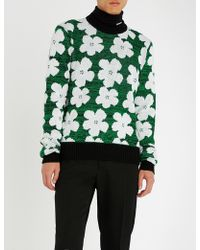 CALVIN KLEIN 205W39NYC - Floral-patterned Wool And Alpaca-blend Jumper - Lyst