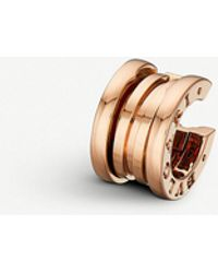 BVLGARI - B.zero1 18ct Rose-gold Hoop Earring - Lyst