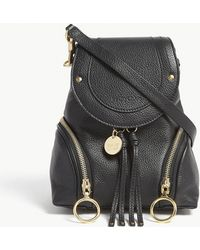 See By Chloé - Black Small Olga Leather Backpack - Lyst