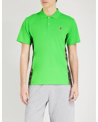 A Bathing Ape - Camouflage Sides Mesh Polo Shirt - Lyst