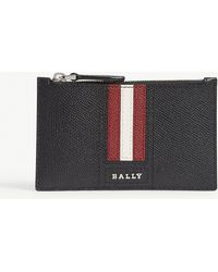 Bally - Tenley Grained Leather Card Case - Lyst