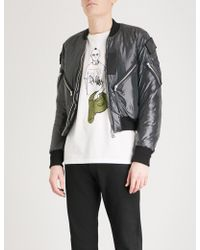 The Soloist - Flag Patch Shell Bomber Jacket - Lyst