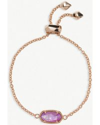 Kendra Scott - Elaina 14ct Rose Gold-plated And Lilac Mother-of-pearl Chain Bracelet - Lyst