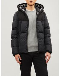 Moncler - Logo-print Shell-down Hooded Jacket - Lyst