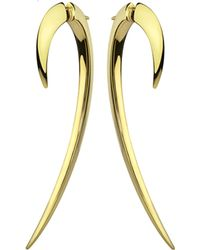 Shaun Leane - Silver And Gold Plate Hook Earrings Size 2 - Lyst