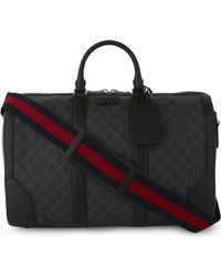 Gucci - Supreme Canvas And Leather Duffle Bag - Lyst