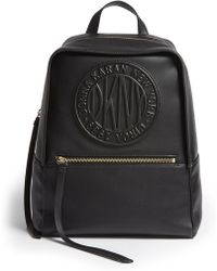 DKNY - Tilly Logo Leather Backpack - Lyst