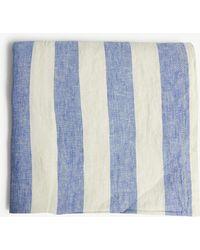 Frescobol Carioca - Mens Blue And White Striped Classic Linen Beach Towel - Lyst