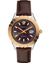 Versace   Automatic Brown Dial Strap   Lyst