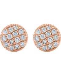 The Alkemistry - Lauren Joy Mini 14ct Rose-gold And Diamond Earrings - Lyst