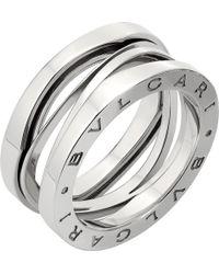 BVLGARI - B.zero1 Zaha Hadid Four Band 18ct White-gold Ring - Lyst