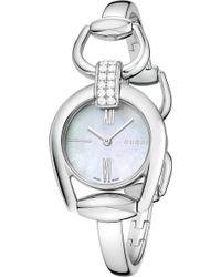 5586bda9485 Gucci - Ya139504 Horsebit Diamond Quartz Ladies Watch - For Women - Lyst