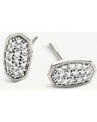 Kendra Scott - Gypsy Sterling Silver And Pavé Diamond Earrings - Lyst