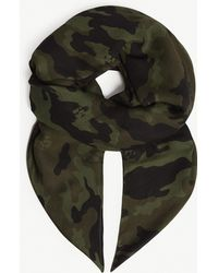 The Kooples - Camouflage Skull Scarf - Lyst