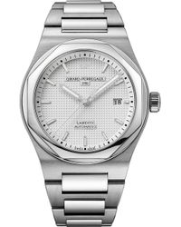 Girard-Perregaux - Gp81000-11-131-11a Laureato Stainless Steel Watch - Lyst