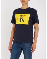 Calvin Klein - Tikimo Cotton-jersey T-shirt - Lyst