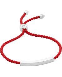 Monica Vinader - Linear Sterling Silver Friendship Bracelet - Lyst