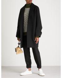 Victoria, Victoria Beckham - Ruffled Wool Coat - Lyst