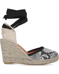 KG by Kurt Geiger | Mimi Leather And Textile Wedge Sandals | Lyst
