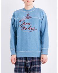 Vivienne Westwood Anglomania - Orb Cotton-jersey Sweatshirt - Lyst