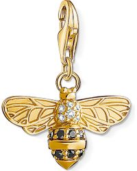 Thomas Sabo - Charm Club 18ct Gold-plated Bee Charm - Lyst
