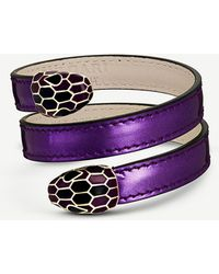 BVLGARI - Serpenti Forever Leather Wrap Bracelet - Lyst