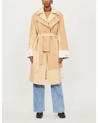 Koche - Patchwork-panel Cotton-jersey And Cotton-gabardine Trench Coat - Lyst
