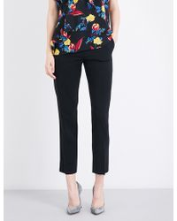 Diane von Furstenberg - Ladies Cropped Iconic Tapered Stretch-wool Trousers - Lyst