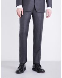 Richard James - Checked Regular-fit Wool Trousers - Lyst