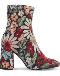 KG by Kurt Geiger - Rilly Floral Heeled Ankle Boots - Lyst