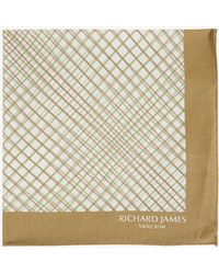 Richard James - Checked Cotton Pocket Square - Lyst