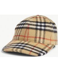 5f99b30ed8a Lyst - Burberry Fisherman Rib Wool Cashmere Beanie in Brown for Men