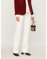 Ba&sh - Wally Wide-leg Cotton-blend Trousers - Lyst