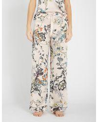Meng - Floral-print Silk-satin Pyjama Bottoms - Lyst