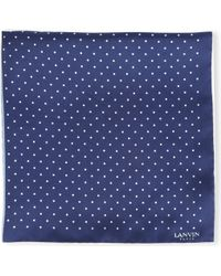 Lanvin - Polka Dot Pocket Square - Lyst