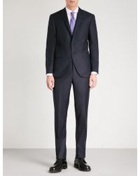 Corneliani - Academy-fit Sharkskin Wool Suit - Lyst