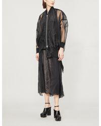 Limi Feu - Zipped Sheer Organza Jacket - Lyst