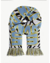 House of Holland - Zebra 'house Of F***ing Holland' Scarf - Lyst