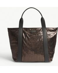 Brunello Cucinelli - Glitter Leather Shopper - Lyst