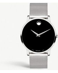 Movado - Museum Classic Mesh Stainless Steel Watch - Lyst