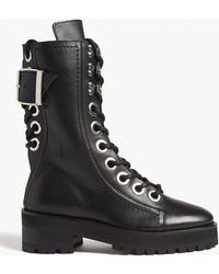 The Kooples - Leather Combat Boots - Lyst